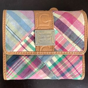 Liz Claiborne Pink Plaid Wallet